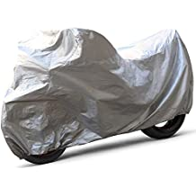 OxGord Solar-Tech Reflective Motorcycle Cover - 100% Sun-Proof - Ready-Fit / Semi Custom - Fits up to 89 Inches