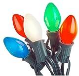 (6) ea Holiday Wonderland 2524-88 25 Count C7 Multi Ceramic Christmas Light Sets