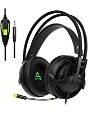 SUPSOO G813 Xbox One PS4 Gaming Headset 3.5mm Filaire Over-Ear Bruit d'isolement Microphone Contrôle du Volume pour Mac/PC / Ordinateur Portable / PS4 / Xbox One - Noir