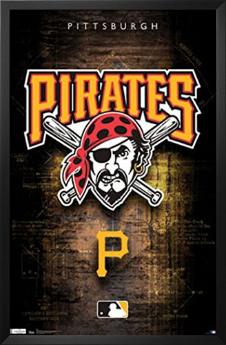 Pittsburgh Pirates Logo 2011 Framed Poster 24 x 36in