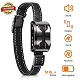 [NEW 2019]AARZA Anti Bark Dog Collar with Beep, Vibration, Harmless Shock Modes - 4 Training Modes - USB Rechargeable Battery - #1 Trainer Recommended - For Small/Medium/Large Size Dogs – Weatherproof