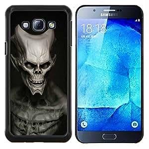 Jordan Colourful Shop - Evil Alien Skull For Samsung Galaxy A8 A8000 Personalizado negro cubierta de la caja de pl????stico