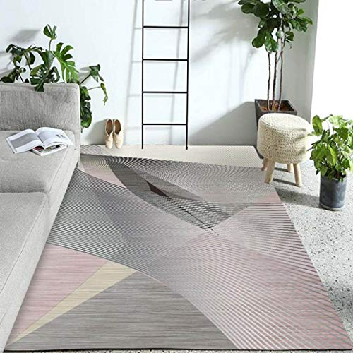 Tsavm Geometric Carpet Modern Superior Collection Area Rug Backing Anti-Static Water-Repellent Rugs