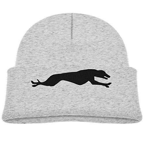 - Running Long Legs Greyhound Beanie Cap Skull Hat Baby Gray