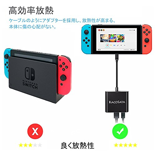 Nintendo Switch 3In1 Type-C to HDMI変換アダプタ ドックセット HDMI変換 テレビ コンピューターに出力 高速充電対応 小型 持ち運びに便利 多機能変換アダプター