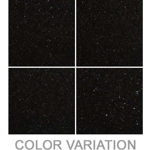 "Granite Tile Flooring Countertops - Black Galaxy 12"" x 12"" Polished"