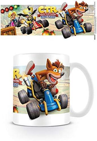 Crash Bandicoot MG25573 - Taza de cerámica (315 ml), diseño de ...