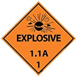 DL88AP National Marker Dot Shipping Labels, Explosive 1.1A 1, 4 Inches x 4 Inches, Ps Vinyl, 25/pk (Pack of 25)
