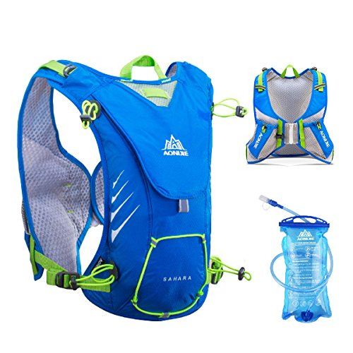 Cheap TRIWONDER 8L Hydration Vest for Outdoors Mochilas Trail Marathoner Running Race Hydration Pack Backpack fits Women Men Kids (Blue – with 1.5L Water Bladder)