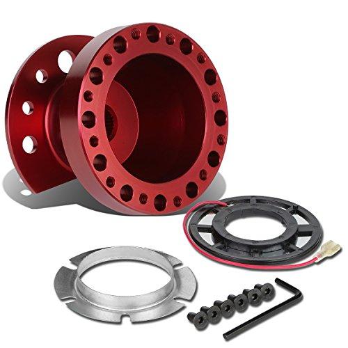DNA Motoring HUB-ALU-OH90-RD 6-Hole Steering Wheel Hub Adaptor