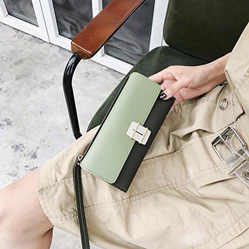Wristlets Handbags Hasp Long Lady Leather Clutch Everpert Women Elegant Wallet Green Purse xgTnCA7q