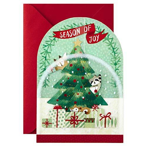 Hallmark Paper Wonder Pop Up Christmas Card Snow Globe (Woodland Creatures) Photo #9