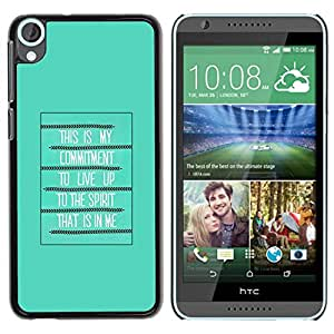 Paccase / SLIM PC / Aliminium Casa Carcasa Funda Case Cover para - Bible Spirit Holy Quote God Green Poster - HTC Desire 820