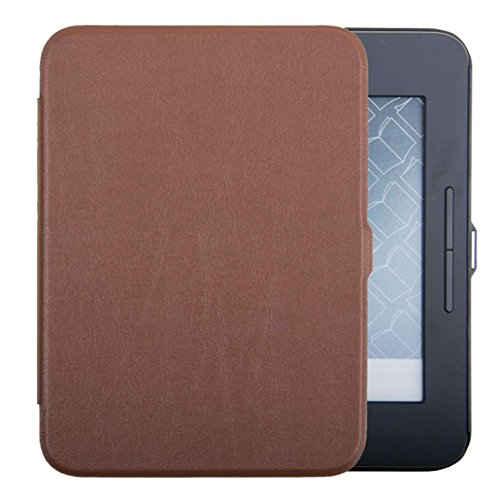 Price comparison product image MChoice For Barnes & Noble Nook Glowlight 3 eReader 2017 BNRV520 Slim Case Leather Cover (Brown)