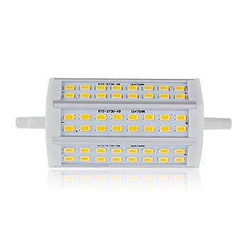 Bloomwin Bombilla R7s 118mm 48LEDs 5730SMD 15W Blanco Cálido 2700-3200K luz de bulbo