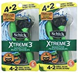 Schick Xtreme 3 Disposable Razors 6 Count (Pack of 2)