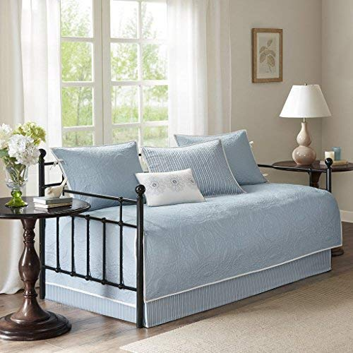 Madison Park Peyton 6 Piece Reversible Daybed Cover Set Blue Daybed (Renewed) by Madison Park (Image #5)