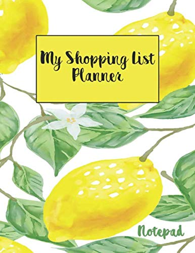 Shopping List Notepad: Grocery Items List - Meal Planner and Price Fill In Guided Log Notebook Journal (Deserts and Favorite Foods Secret List Diary)
