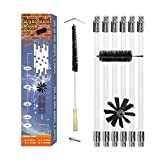 20ft Rotary Dryer Vent Lint Brush, 10-Piece Dryer Duct Cleaning System kit Extend Plus 23.5 inch Flexible Wire Shaft Brush (20FT)