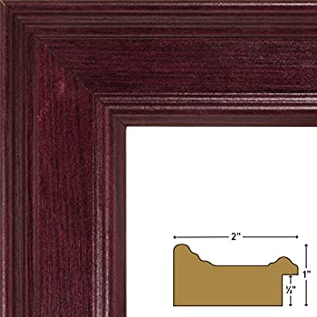 craig frames fm97ma 24x34 inch picture frame 2 inch wide mahogany 090 inch acrylic foamcore