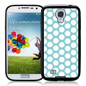 Cool Painting Polka Dots Pattern - Aqua - Protective Designer BLACK Case - Fits Samsung Galaxy S4 i9500