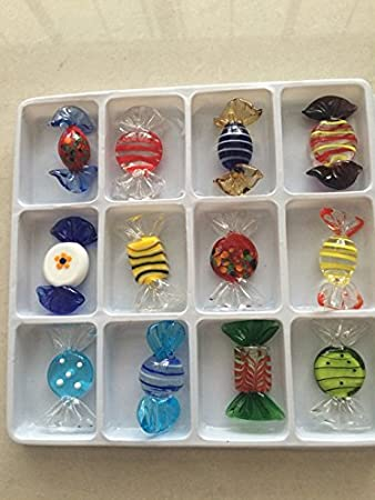 Amazon 12pcs vintage murano glass sweets wedding xmas party 12pcs vintage murano glass sweets wedding xmas party candy decorations gift junglespirit Gallery