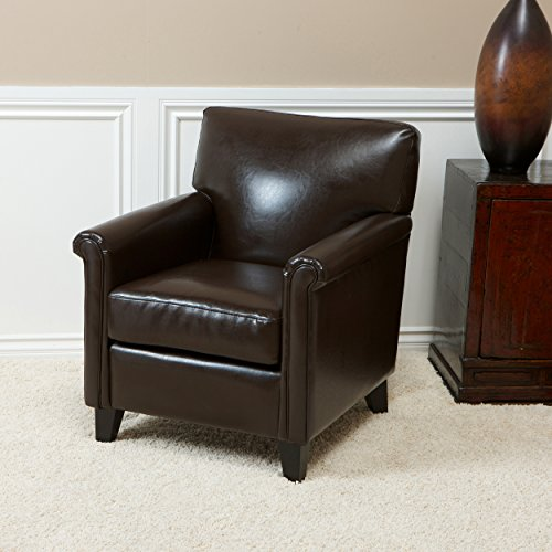 Bristol | Leather Club Chair | in Brown