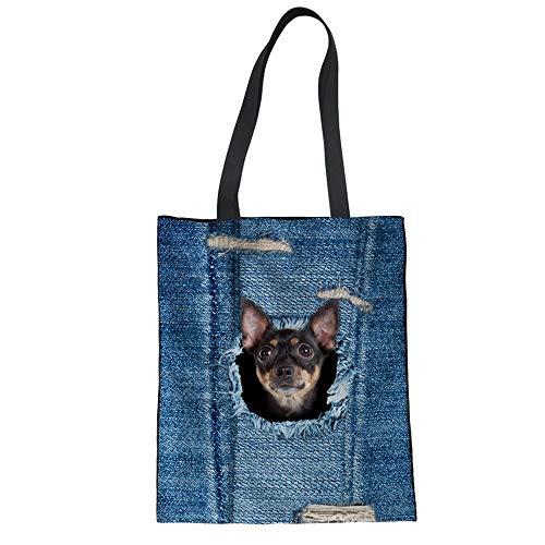Linen For Female Friendly Folding 3D ZXXFR Totes Ladies C3306z22 Shoulder Women Handbag Cotton Shopper Shopping C3304Z22 Bags Cat Eco qgXZ6wC