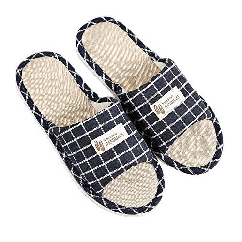 Intérieur Accueil Linge slip Femmes Chaussures Toe Bleu Respirant Sole D'été Unisexe Pantoufles Flats Hommes Anti aTwc8