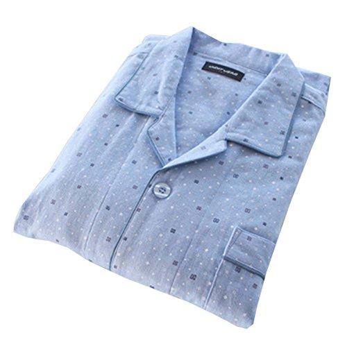 Los Japonés Estilo Pijama Falda Del delgado Hombres Albornoz Kimono Algodón A5 De 4Ynqzwv