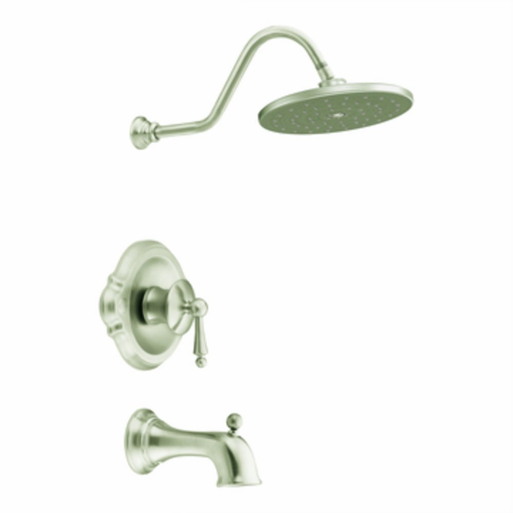 Moen TS314BN Waterhill Posi Temp Tub/Shower, Brushed Nickel   Single Handle  Shower Only Faucets   Amazon.com