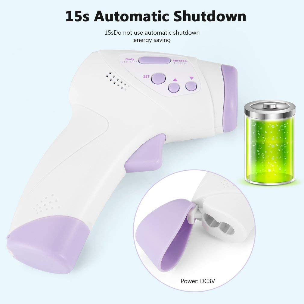 Indoor Infants Non-Contact Infrared Ear Thermometer with Fever Alarm and Memory Function Children Adults for Babies and Outdoor Use Forehead Thermometer