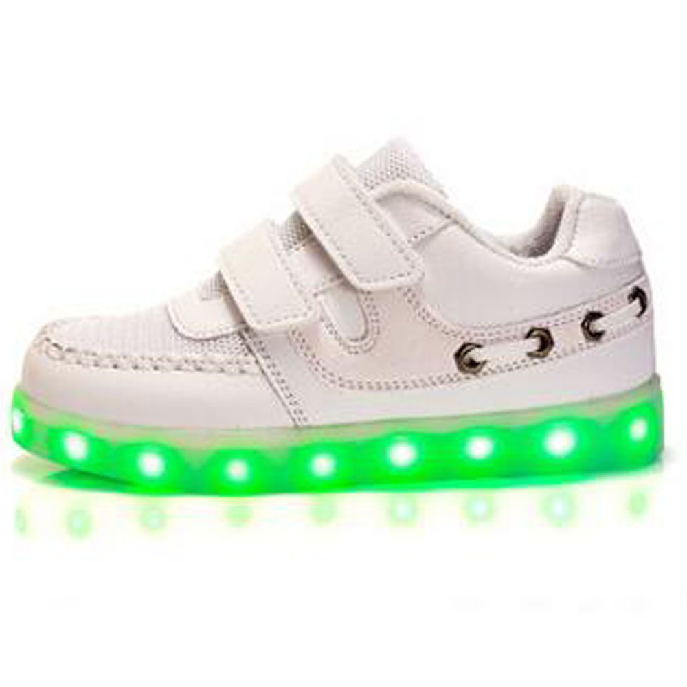 kids boys girls LED Light Breathable Flashing Sneakers Shoes netbai25