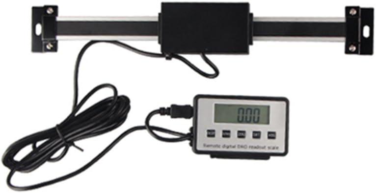 LCD Vertikale Messbereich LCD-Anzeige Skala Multifunktionale Digitalanzeige Linearwaage mit externer Fernbedienung Lineal Messwerkzeug f/ür Drehmaschine Fesjoy Digital Lineal 0-600mm
