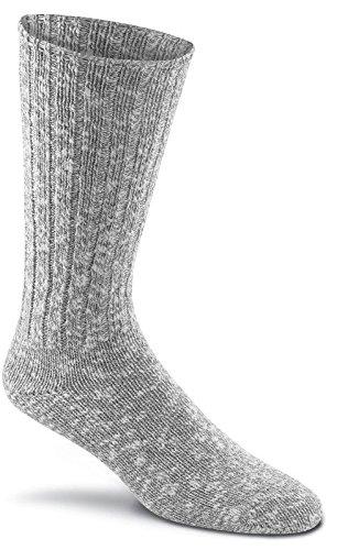 Fox River New American Ragg Cotton Crew Socks, Grey, X-Large