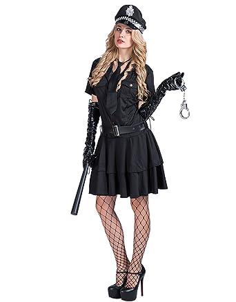 Eraspooky Damen Sexy Polizei Kostum Polizistin Uniform Fasching