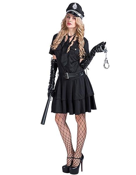 EraSpooky Disfraz de señora de la policía de Las Mujeres ...