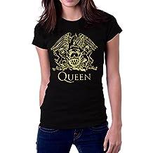 Queen Band Rock Music Logo Women's T-Shirt X-Large Black