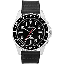 Verbalise Rol-X Men's Talking Global Radio Controlled Watch with Silver Case