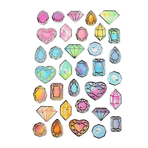 - Homeford Diamond Gem Foil Accented Watercolor Epoxy Stickers, 29-Piece