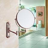 European-style luxury cosmetic mirror/bathroom cosmetic mirrors/Wall-mounted folding telescopic mirror-B