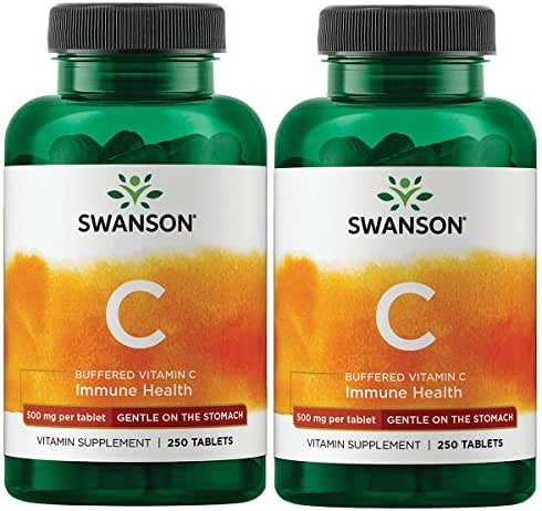 Swanson Buffered Vitamin C 500 Milligrams 250 Tabs (2 Pack)