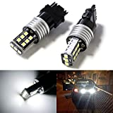 iJDMTOY (2) 15-SMD-2835 High Power 3156 LED Bulbs For Car Backup Reverse Lights