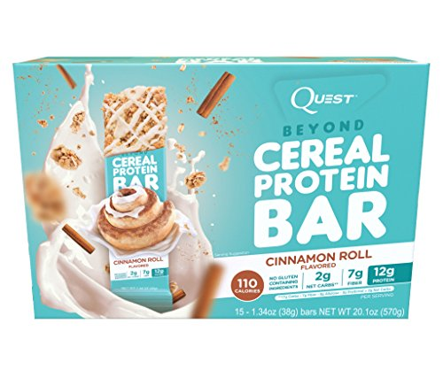 Quest Nutrition Beyond Cereal Protein Bar, Cinnamon Roll,1.34 Ounce, 15 Count (Quest Cinnamon Roll Protein Bar compare prices)