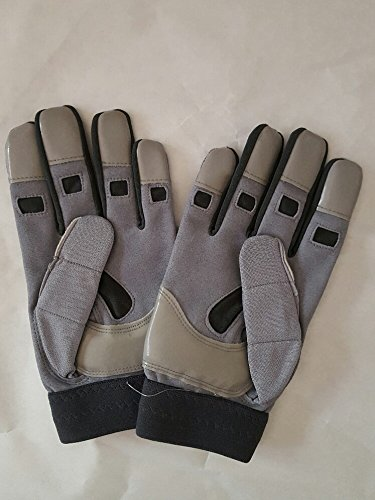 Cutter Padded 017LC Full-finger Lineman XXL Adult Gloves (GREY)