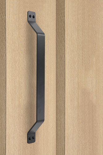 HomeDeco Hardware Big Size Black Rustic Garden Gate Shed Pull Door Handle  Sliding Barn Door Hardware