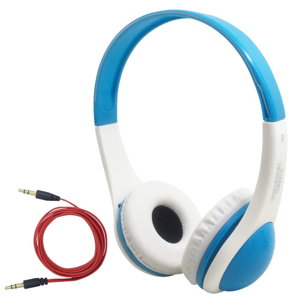 Wired and Adjustable Stereo Kids Headphones, DaKuan Soft Ear-pad Headphones for ChildrenGirls, Boys, Teens,Kids Friendly Safe Material