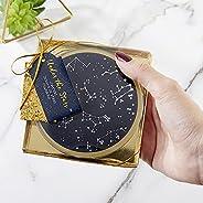 Conjunto de porta-copos de vidro Kate Aspen Under the Stars, decorações de casamento/festa, presente de festa,