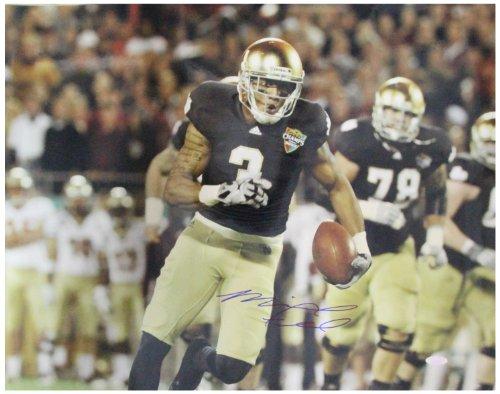NCAA Notre Dame Fighting Irish Michael Floyd Running Champs Sports Bowl Signed Horizontal Photograph, 8x10-Inch -