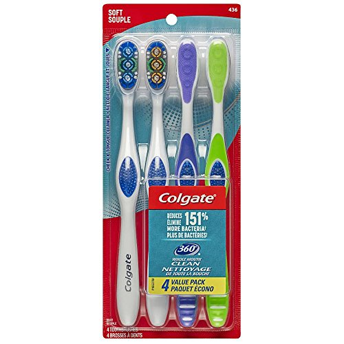 - Colgate 360 Adult Full Head Soft Toothbrush (4 Count)